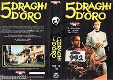 5 Draghi d' oro (1982) VHS Playtime Video 1a Edizione   rara   Klaus  KINSKY