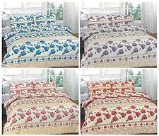 Luxury Flower Roses Duvet Cover Set Bedding Set Quilt Cover with Pillowcases
