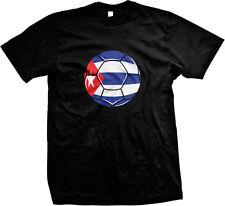 Cuba Flag Soccer Ball Leones del Caribe Lions of the Caribbean Mens T-shirt