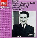Chopin: 14 Waltzes / Barcarolle Op 60 / Nocturne Op 27 / Mazurka O... -  CD G6VG