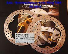 Satz Bremsscheiben Honda GL 1500, GL1500 Goldwing, SC22, France Equipement H616