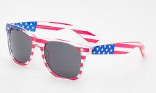 Uncle Sam Halloween USA American Flag Sunglasses Transparents Frame Black Lens