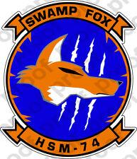 STICKER USN HSM 74 Swamp Fox