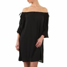 Off Shoulder Chiffon Kleid schwarz und weiß verschiedene Größen
