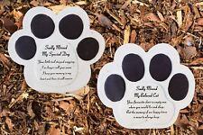 Pet Graveside Ornament Plaque Paw Cat Dog Sadly Missed Grave Stone