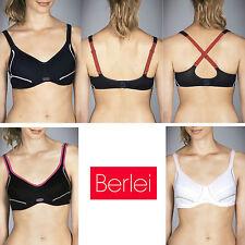 Womens Berlei Electrify Underwire Sports Bra Cross Back Support Lined Y556W