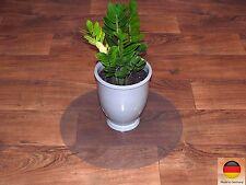Bodenschutzmatte rund 60&90⌀ PET Allergiker geeignet transparent PVC Vinyl frei