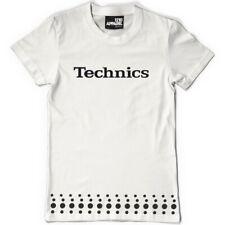 Technics / DMC T-Shirt Revolving Platter Weiß-Schwarz (Size S-XXL) T104W