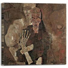 Schiele morte e l'uomo design quadro stampa tela dipinto telaio arredo casa