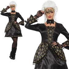 Masquerade Costume Halloween Venetian Womens Ladies Adult Fancy Dress S-L