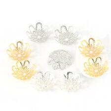 Lot 10 Coupelles / caps / Calottes 12mm Argenté ou Doré perles breloques 12 mm
