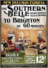 TR55 Vintage Brighton Southern Belle Railway Travel Poster Re-Print A4