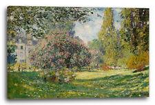 Lein-Wand-Bild Kunstdruck: Claude Monet - Landschaft am Park Monceau (1876)