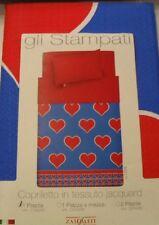 Copriletto Singolo Love Cuori Blu By Zambaiti Piquet Prezzo Offerta