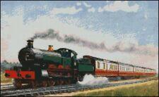 "Tren de vapor 1 Completa puntada cruzada contada Kit 15 pulgadas x 9 """