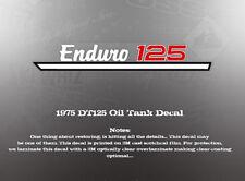 YAMAHA 1975 DT125 OIL TANK DECAL LIKE NOS