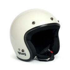 Roeg Jett Open Face Motorcycle Helmet - White