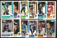 1986-87 OPC O PEE CHEE NHL HOCKEY CARD 133-264 & BOX BOTTOM A-P WRAPPER SEE LIST