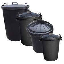 Noir extérieure refuser poussière bin Bacs Plastique déchets lourds intérieure poubelle