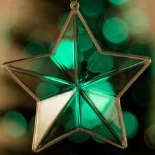 12 x transparent sapin de noël étoile décoration ornement cadeau clair babiole