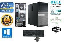 Dell Optiplex 790 TOWER PC i5/i7 4-8-16 Ram HD-SSD Windows 10 HP-Pro Wifi CD-RW