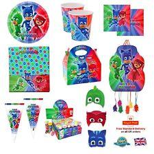 Disney's PJ Máscaras Superhéroe Niños Fiesta de Cumpleaños para niños vajilla de suministros