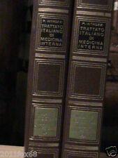 trattato italiano di medicina interna introzzi rara 1°edizione 2 volumi medicina