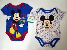 MICKEY MOUSE WALT DISNEY Baby Infant Toddler ONE PIECE BODYSUIT 3 6 9 Mos 2 Pcs