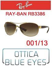 Occhiale da Sole RAYBAN RB3386 001/13 Sunglasses Ray Ban Sonnenbrillen PILOT ORO