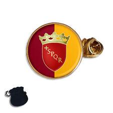 CITY OF ROME ROMA FLAG COAT OF ARMS ITALY  ENAMEL LAPEL PIN BADGE GIFT