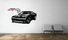 Dodge Challenger SRT Supercharged HEMI Hellcat Wall Decal Car Vinyl Sticker
