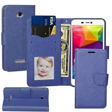 For BLU Studio 5.5 HD (S150L) Leather Wallet Stand Flip Slot Case + Screenguard