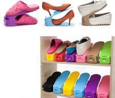 Home Chic Adjustable Double Shoe Rack Holder DIY Simple Portable Storage Rack J