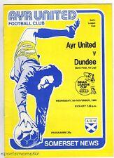 PRG   SCHOTTLAND L.Cup 80/81     AYR UTD - DUNDEE   1/2