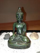 BUDDHA BUDHA BRONZE BRONCE SKULPTUR ANTIK DEKO KUNST GLÜCKSBRINGER BUDDHISMUS