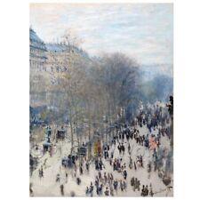 Boulevard des Capucines by Claude Monet Giclee Print Repro on Canvas