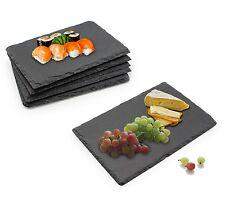 6 pezzi di cibo di ardesia/insalata/Topazio/Formaggio Board Piastra Set CENA REGALO