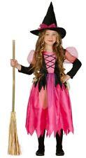 Pinke Hexe Kinder Kostüm Rosa Halloween Mädchen Hexen Halloweenkostüm Gr 110-146