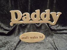 Placa De Madera Mdf papá firmar palabras carta Regalo Padres Día Cumpleaños Craft Gales