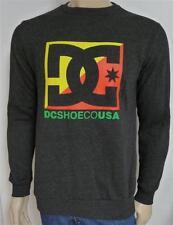 DC Shoes Rasta Cross Star Black Heather Mens Crew Fleece Sweater New NWT