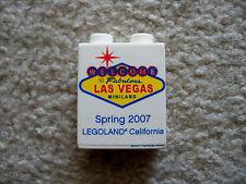 LEGO Exclusive - Rare Promo Brick - Welcome To Las Vegas Legoland CA 2007 (wear)