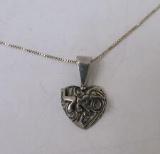 Judaica Jewish Necklace for Prosperity Kabbalah Kabbala Heart Charm Jewelry Cute