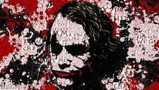 The Joker Quotes Batman Canvas Wall Art Film Movie Poster Print Heath Ledger 90s