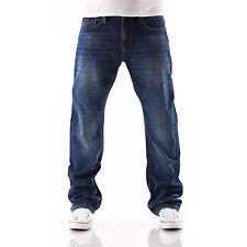 BIG SEVEN JEANS XXL Dan Atlanta Regular Fit Uomo Pantaloni Blu Misure grandi NUOVO