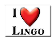 SOUVENIR USA - NEW MEXICO FRIDGE MAGNET I LOVE LINGO (ROOSEVELT COUNTY)