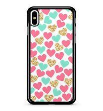 Love corazones de color brillante deslumbrante romántico Superb 2D Teléfono Estuche Cubierta