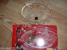 Nib Mikasa Holiday Lights Glass Sweet Dish 9 1/4 inches Very Nice
