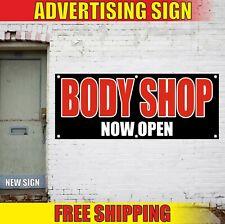 Body Shop Banner Advertising Vinyl Sign Flag auto car repair service Now Open 24