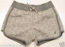Nautica Girls Gray Jacquard Anchor Print All Over Shorts