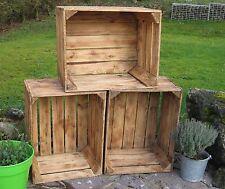VIEUX FLAMBOYANT CAGEOT À FRUITS Caisse de pommes Boîtes en bois Boîte à vin